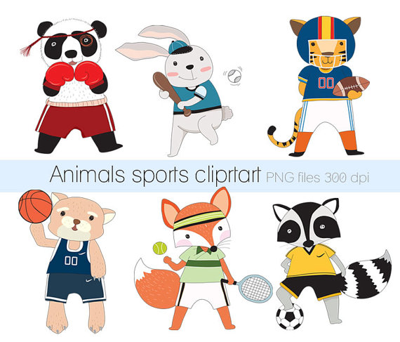 Sport clipart cute Download Clipart Etsy Sports cute