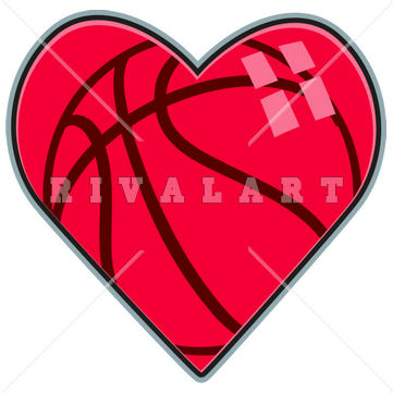 Sport clipart heart Graphic Basketball Clipart of Sports