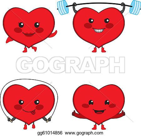 Sport clipart heart Heart four sports GoGraph of