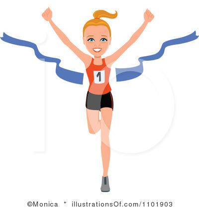 Winning clipart runner Marathon by Clipart Woman Clip
