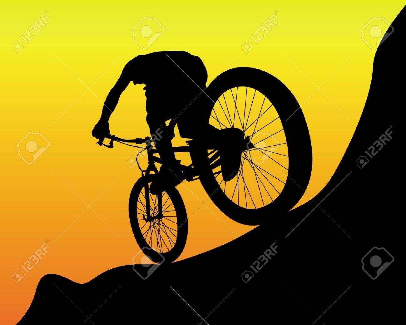 Sport clipart mtb Cliparts Mountain Bike Vector Free