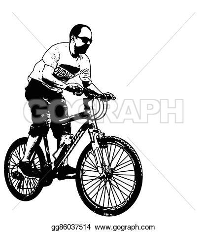 Sport clipart mtb Mtb Vector Clipart illustration Illustration