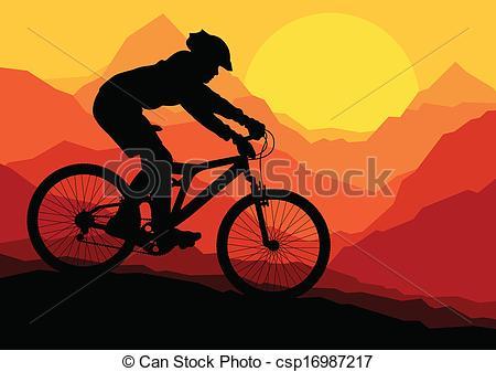 Sport clipart mtb Mountain Art Mountain bike Mountain