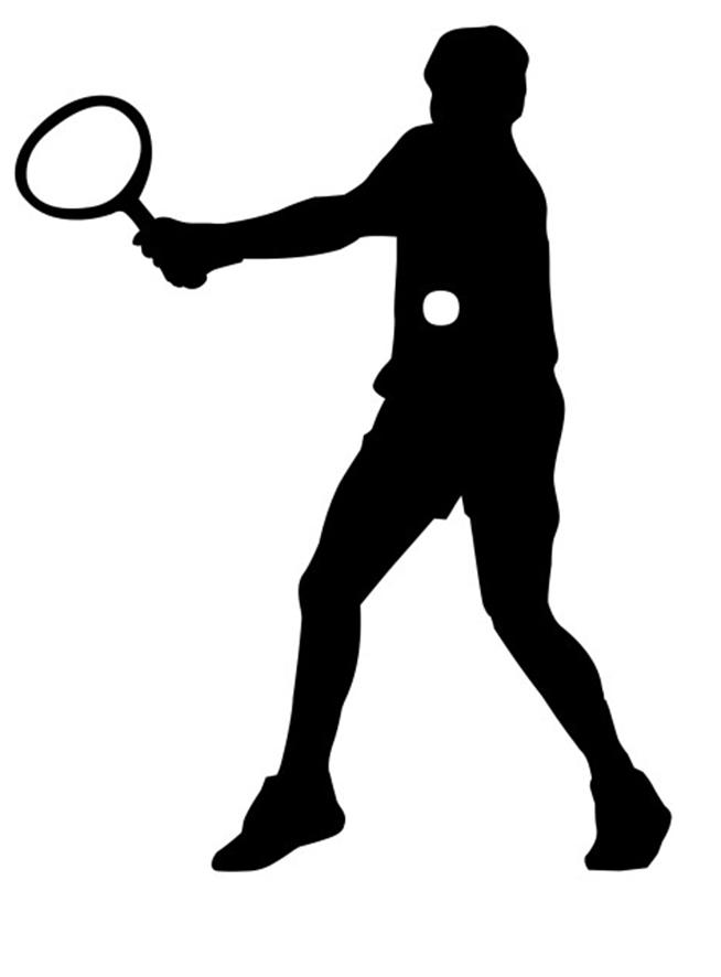 Sport clipart silhouette Tennis Kinds Clipart Different clipart