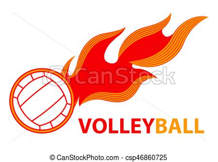 Sport clipart tail Volleyball Volleyball fire tail tail