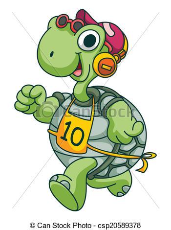 Turtoise clipart run #1