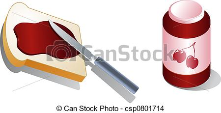Spread clipart  Isometric with Bread Stock
