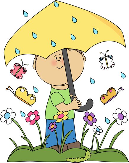 Inside clipart rainy day Art in Spring Spring Images