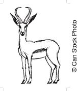Springbok clipart Illustration Vector EPS African clipart