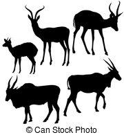 Springbok clipart Silhouettes Clip Images Vector vector
