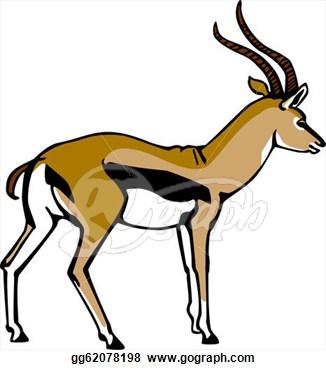 Springbok clipart Art Free Art Gazelle Clip