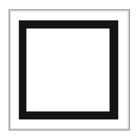 Square clipart black and white  Art Square Download Clip