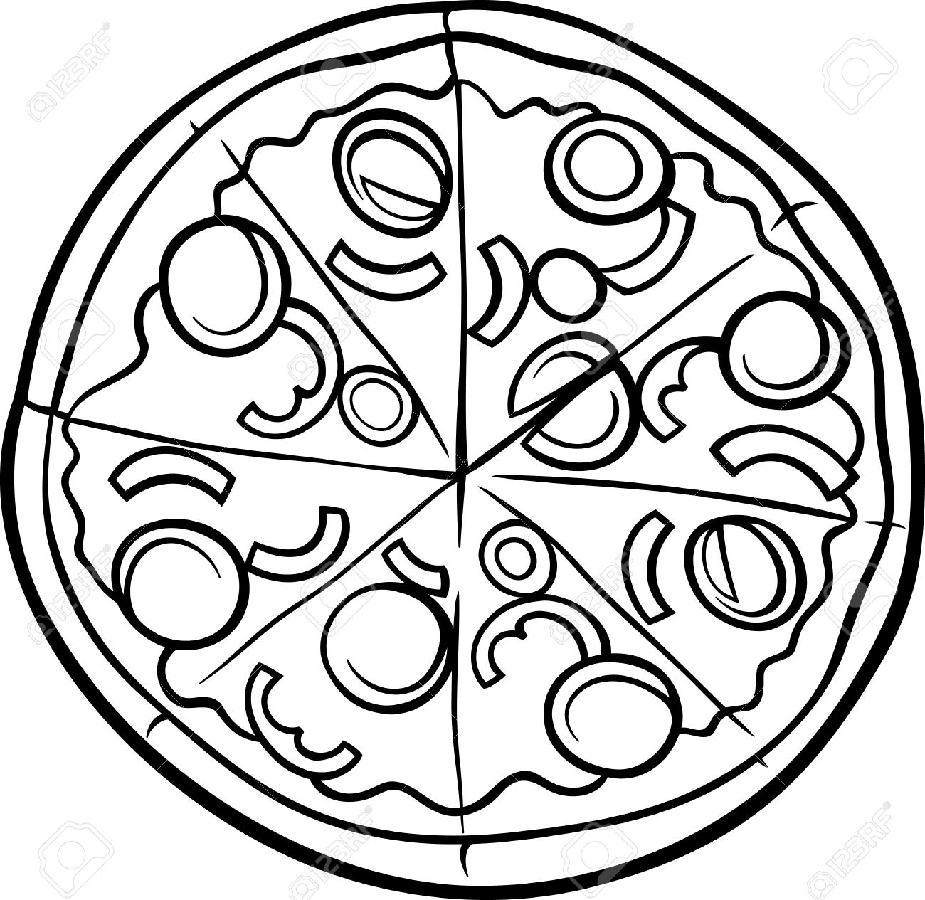Pizza clipart black and white White Clipart And Square Best