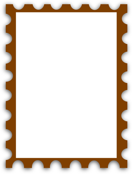 Templates  clipart postal stamp #8