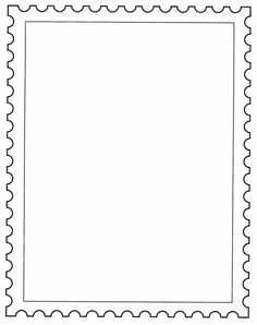 Templates  clipart postal stamp #4