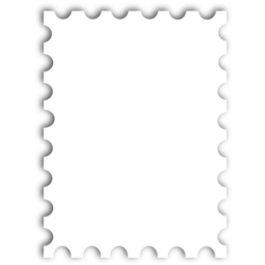 Squares clipart blank stamp Create Postcard a Postage Template