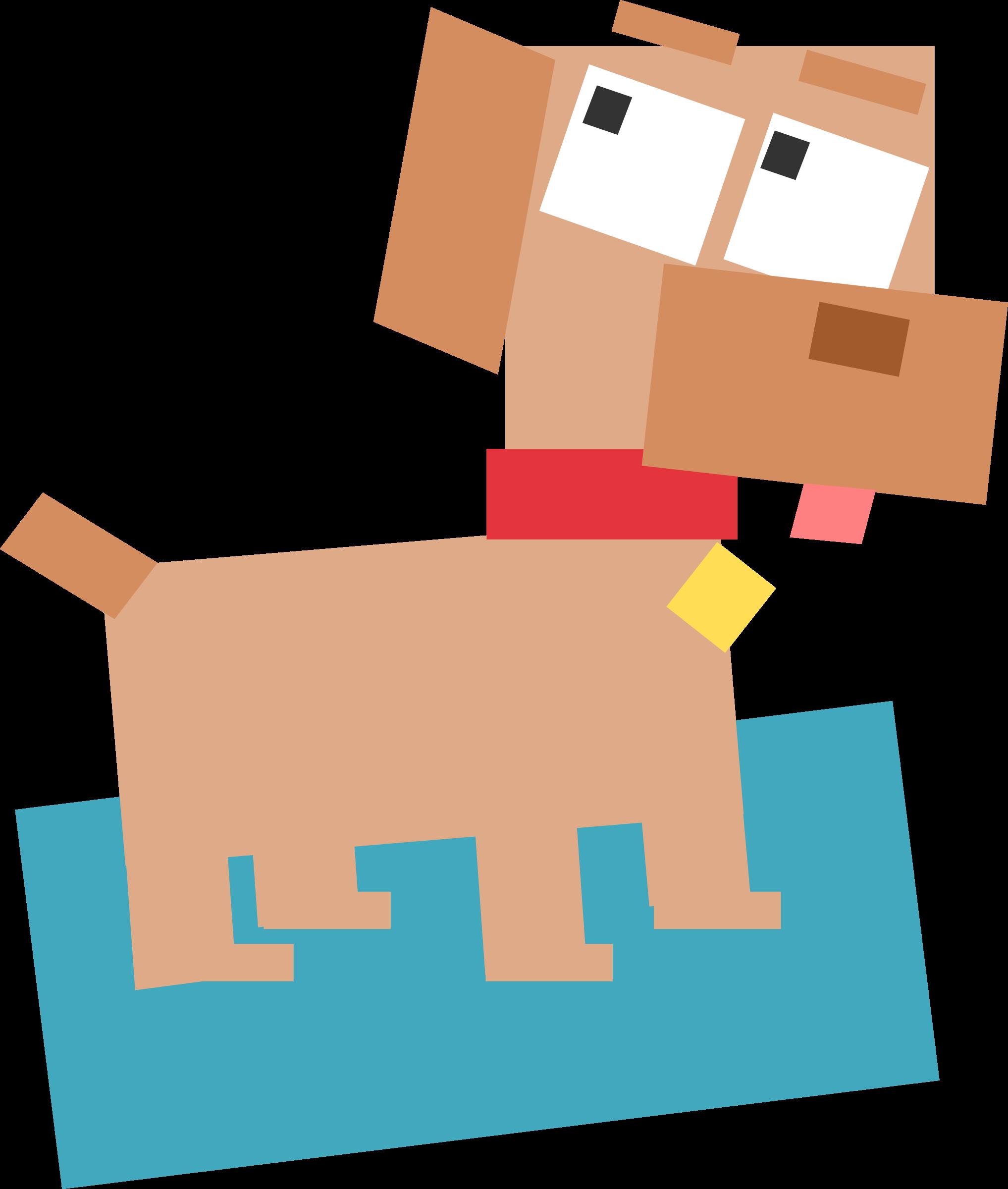 Square clipart cartoon Square Clipart Square animal dog