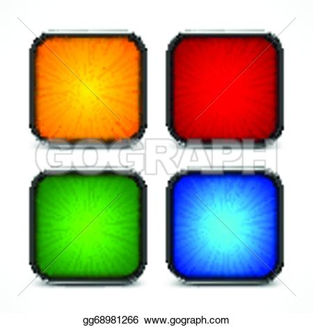 Square clipart colored Gg68981266 Vector Vector Colored gg68981266