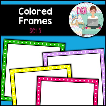 Square clipart colored Amy Fra Frames Frames 3