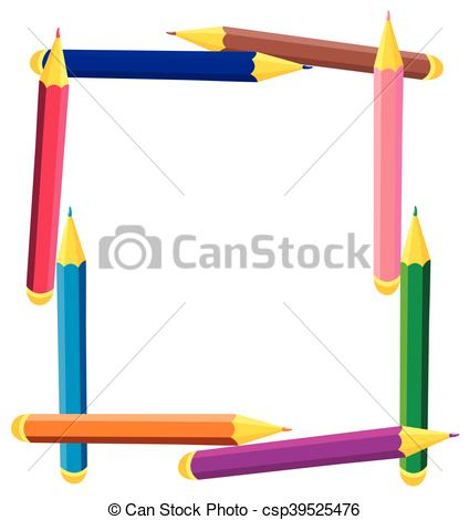 Square clipart colored  frame frame square Illustration