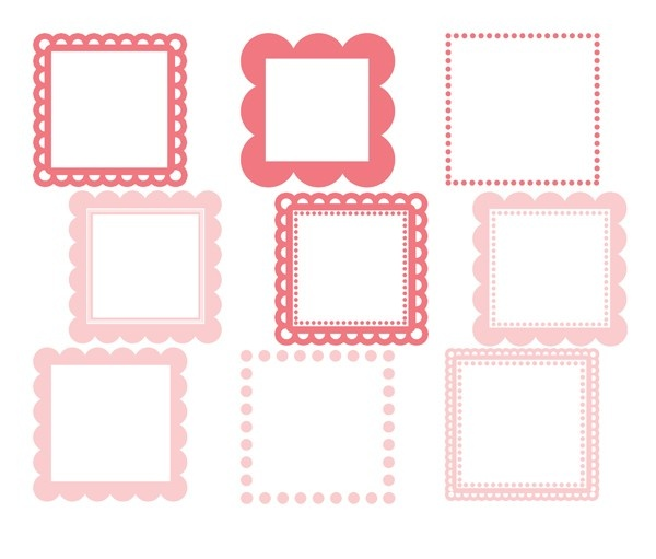 Square clipart cute About 39 Square Personal Scalloped