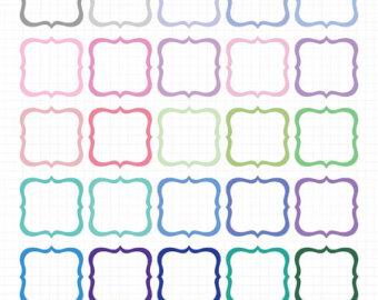 Square clipart cute Frames Cute Frame Use Borders