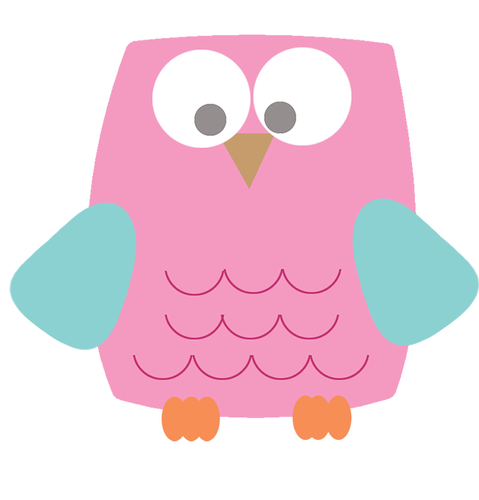 Square clipart cute Square clipart Owl owl pink