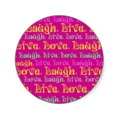 Square clipart dark pink Laugh Pink Lime Encouraging Stickers