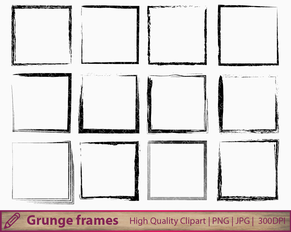 Squares clipart distressed Clipart frame  square grunge