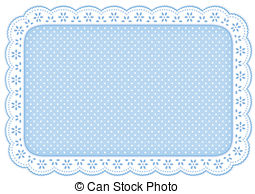 Square clipart doily And Doily Mat Polka doily