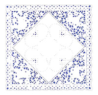 Square clipart doily Lace Basket Lace Doilies White