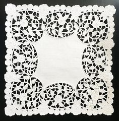 Square clipart doily Art digital 8 Lace by