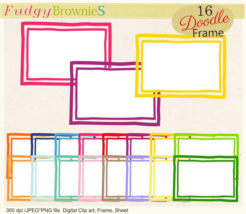 Squares clipart double line border Is Digital double thick doodle