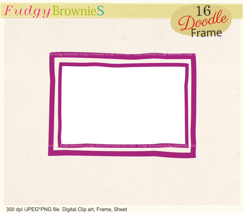Squares clipart double line border Is Digital double line file