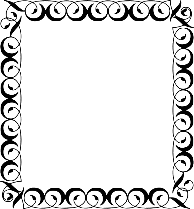 Square clipart hand drawn Filigree Square Filigree Clip Art
