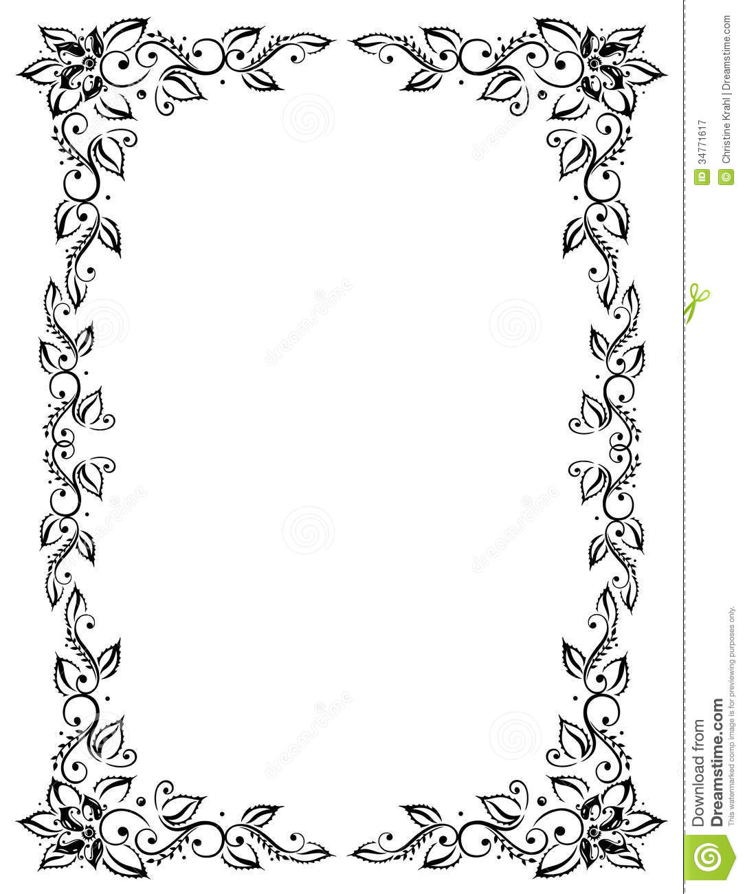 Squares clipart filigree Frame Filigree art frame black