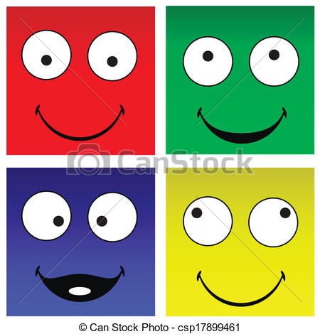 Square clipart funny Vector of Funny csp17899461 smilies