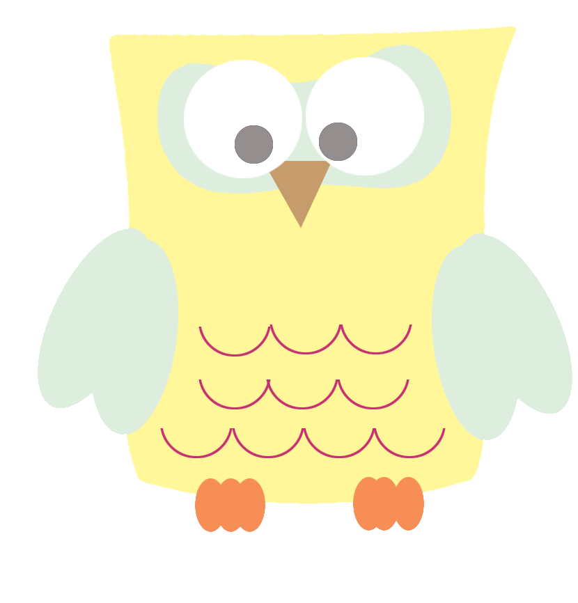 Square clipart funny Funny owl Owl clipart yellow