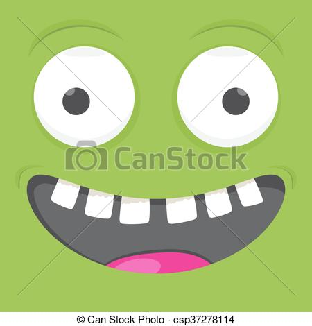 Square clipart funny Emoticon square Vector cartoon smile