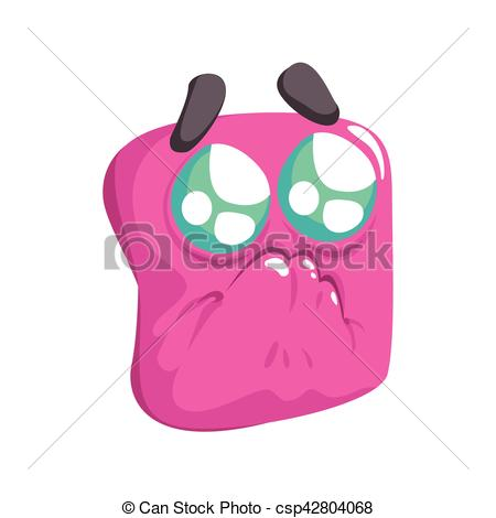 Square clipart funny Emotional Square Face Begging Cartoon