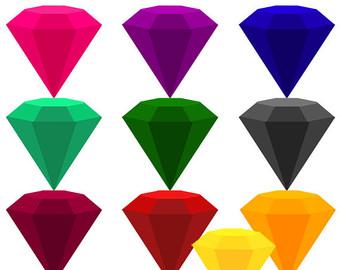 Square clipart gemstone Gemstones Etsy stones Gemstone clipart