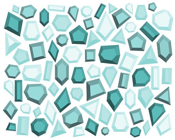 Square clipart gemstone Gemstone // Digital Clipart //