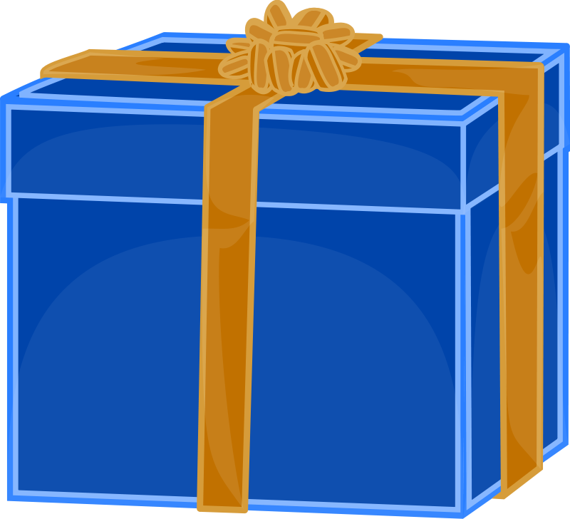 Square clipart gift box Birthday  Free Free on