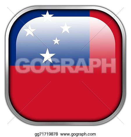 Square clipart hand drawn Stock button Clipart flag Illustration