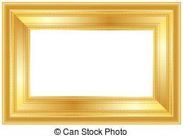 Square clipart gold frame Vector ribbon Clip  Art