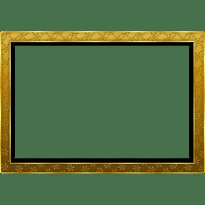 Square clipart gold frame Deco Landscape Art Gold Simple