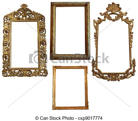 Square clipart gold frame Picure Oval and and Square