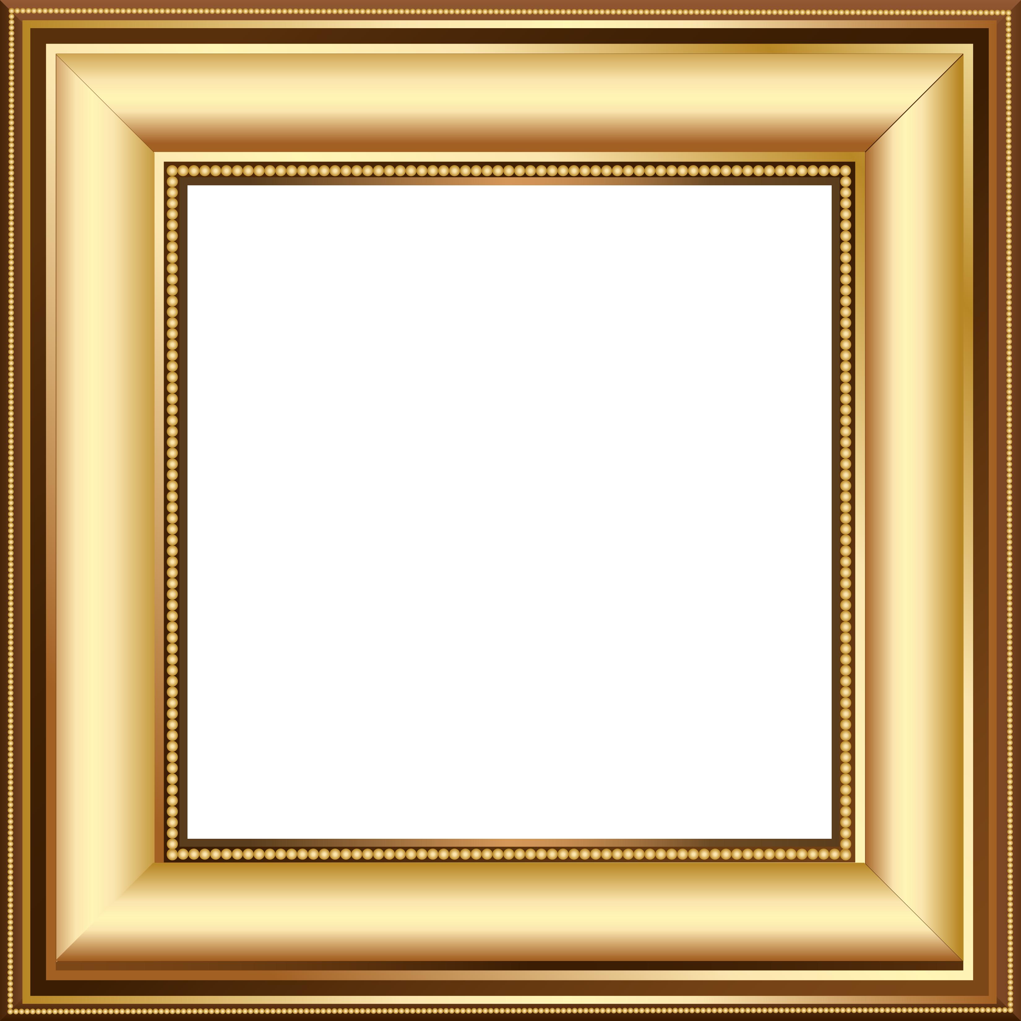 Square clipart gold frame Frame Clip Transparent art Tags