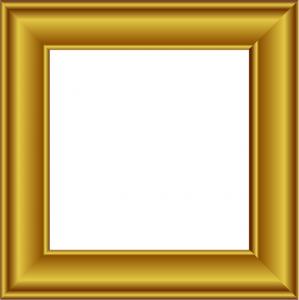Square clipart gold frame Gold 2 Clipart Frame Gold