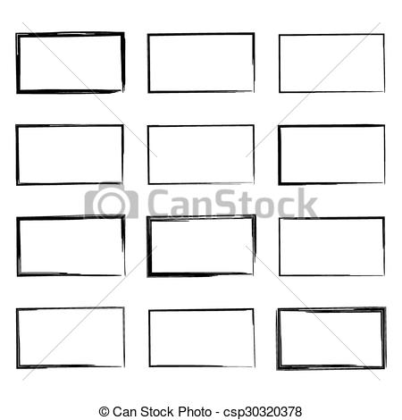 Square clipart hand drawn Set Illustration hand hand